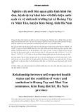 Nghiên cứu mối liên quan giữa tình hình ốm đau, bệnh tật tự khai báo với điều kiện nước sạch và vệ sinh môi trường tại xã Hoàng Tây và Nhật Tân, huyện Kim Bảng, tỉnh Hà Nam