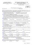 Đề thi HK 2 môn Sinh học lớp 12 năm 2017-2018 - THPT Yên Lạc 2 - Mã đề 357
