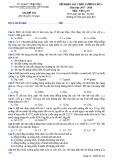 Đề thi KSCL lần 4 môn Vật lí lớp 10 năm 2018 - THPT Nguyễn Viết Xuân - Mã đề 104
