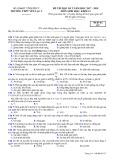 Đề thi HK 2 môn Sinh học lớp 12 năm 2017-2018 - THPT Yên Lạc 2 - Mã đề 570