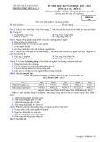 Đề thi HK 2 môn Địa lí lớp 12 năm 2017-2018 - THPT Yên Lạc 2 - Mã đề 570