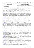 Đề thi KSCL lần 4 môn Hóa học lớp 10 năm 2018 - THPT Nguyễn Viết Xuân - Mã đề 103