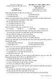Đề khảo sát chất lượng lần 4 môn Lịch sử lớp 11 năm 2018 - THPT Nguyễn Viết Xuân - Mã đề 103