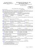 Đề thi HK 2 môn Sinh học lớp 12 năm 2017-2018 - THPT Yên Lạc 2 - Mã đề 132