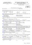 Đề thi HK 2 môn Sinh học lớp 12 năm 2017-2018 - THPT Yên Lạc 2 - Mã đề 209
