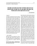 Nghiên cứu mức độ tổn thương sinh kế của người dân tại một số xã ven biển tỉnh Bến Tre trong bối cảnh biến đổi khí hậu