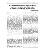 Mối quan hệ giữa diễn ngôn và quyền lực (Nghiên cứu trường hợp cộng đồng phật giáo hệ phái Khất sĩ ở tịnh xá Ngọc Vân, tỉnh Trà Vinh