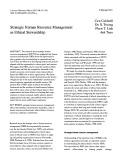 Strategic human resource management as ethical stewardship