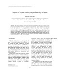 Impact of export variety on productivity in Japan
