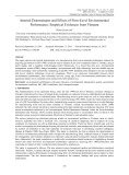 Internal determinants and effects of firm-Level environmental performance: Empirical evidences from Vietnam
