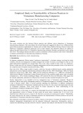 Empirical study on transferability of kaizen practices in Vietnamese manufacturing companies