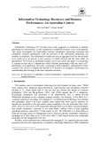 Information technology resources and business performance: An Australian context