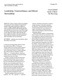 Leadership, trustworthiness, and ethical stewardship