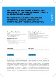 Technology acceptance model and the paths to online customer loyalty in an emerging market