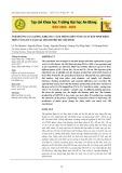 Ảnh hưởng của giống, khoảng cách trồng đến năng suất bắp sinh khối trên vùng đất xám tại Thành phố Hồ Chí Minh