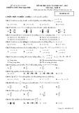 Đề kiểm tra HK 2 môn Toán lớp 10 năm 2018 - THPT PhanNgọcHiển - Mã đề 132