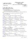 Đề kiểm tra HK 1 môn Hóa học lớp 10 năm 2017-2018 - THPT Nguyễn Trãi - Mã đề 357