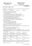 Đề kiểm tra HK 1 môn Vật lí lớp 10 năm 2018 - THPT Gia Nghĩa - Mã đề 285