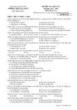 Đề kiểm tra HK 1 môn Địa lí lớp 11 năm 2017-2018 - THPT Gia Nghĩa - Mã đề 465