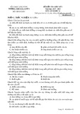 Đề kiểm tra HK 1 môn Sinh học lớp 11 năm 2017-2018 - THPT Gia Nghĩa - Mã đề 452