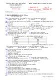 Đề kiểm tra HK 1 môn Địa lí lớp 10 năm 2017-2018 - THPT Nguyễn Trung Trực - Mã đề 357