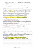 Đề kiểm tra HK 1 môn Hóa học lớp 10 năm 2017-2018 - THPT Nguyễn Trãi, Ba Đình - Đề số 01 (Khối D)