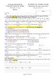 Đề kiểm tra HK 1 môn Hóa học lớp 10 năm 2017-2018 - THPT Nguyễn Trãi, Ba Đình - Đề số 01 (Khối A)