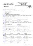 Đề kiểm tra HK 1 môn Hóa học lớp 10 năm 2017-2018 - THPT Nguyễn Trãi - Mã đề 485