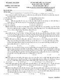 Đề thi thử THPT Quốc gia môn Vật lí năm 2018 - Sở GD&ĐT Thái Bình - Mã đề 202