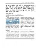 N-TiO2 điều chế bằng phương pháp đun hồi lưu với dung dịch H2O2-urea: điểm điện tích không, khả năng hấp phụ, và hoạt tính quang xúc tác dưới ánh sáng khả kiến
