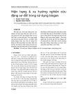 Hiện trạng & xu hướng nghiên cứu động cơ đốt trong sử dụng biogas