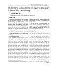 Thực trạng và đặc trưng tín ngưỡng dân gian ở Thoại Sơn - An Giang