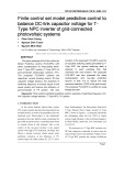 Finite control set model predictive control to balance DC-link capacitor voltage for TType NPC inverter of grid-connected photovoltaic systems