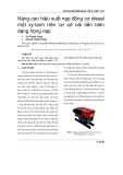 Nâng cao hiệu suất nạp động cơ diesel một xy-lanh trên cơ sở cải tiến biên dạng họng nạp
