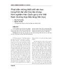 Phát triển những thiết chế văn học trong thời đại văn hóa đại chúng: Kinh nghiệm Hàn Quốc gợi ý cho Việt Nam (trường hợp Bảo tàng Văn học)