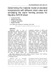 Determining the material model at elevated temperatures with different strain rates and simulating the warm forming process for Mg alloy AZ31B sheet