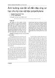 Ảnh hưởng của tần số đến đáp ứng cơ học chu kỳ của vật liệu polyethylene