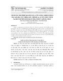 Nghiên cứu điều chế than hoạt tính từ vỏ hạt Mắc-ca sử dụng tác nhân hoạt hóa NAOH ứng dụng xử lí Metylen Blue