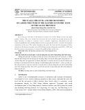 Quy mô, trình độ và chuyển dịch cơ cấu lao động khu vực kinh tế phía Đông tỉnh Tiền Giang
