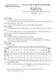 Đề thi KSCL đội tuyển HSG môn Địa lí lớp 12 năm 2017-2018 - Sở GD&ĐT Vĩnh Phúc