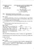 Đề thi chọn HSG vòng tỉnh lớp 12 năm 2016-2017 môn Vật lí - Sở GD&ĐT Kiên Giang (giải toán trên máy tính cầm tay)