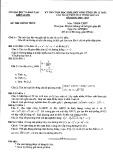 Đề thi chọn HSG vòng tỉnh lớp 12 năm 2016-2017 môn Toán - Sở GD&ĐT Kiên Giang (giải toán trên máy tính cầm tay)