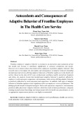 Antecedents and consequences of adaptive behavior of frontline employees in The health care service