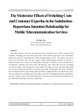 The moderator effects of switching costs and customer expertise in the satisfaction- repurchase intention relationship for mobile telecommunication services