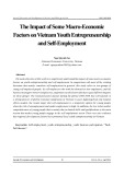 The impact of some macro-economic factors on Vietnam youth entrepreneurship and self-employment