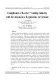 Compliance of eather tanning industry with environmental regulations in Vietnam