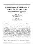 Trade creation or trade diversion in ASEAN and ASEAN+6 FTAs: Trade indicators approach