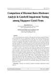 Comparison of discount rates disclosure analysis in goodwill impairment testing  among singapore listed firms