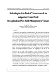 Reforming the state bank of Vietnam towards an independent central bank: The application of new public management in Vietnam