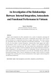 An investigation of the relationships between internal integration, antecedents and functional performance in Vietnam